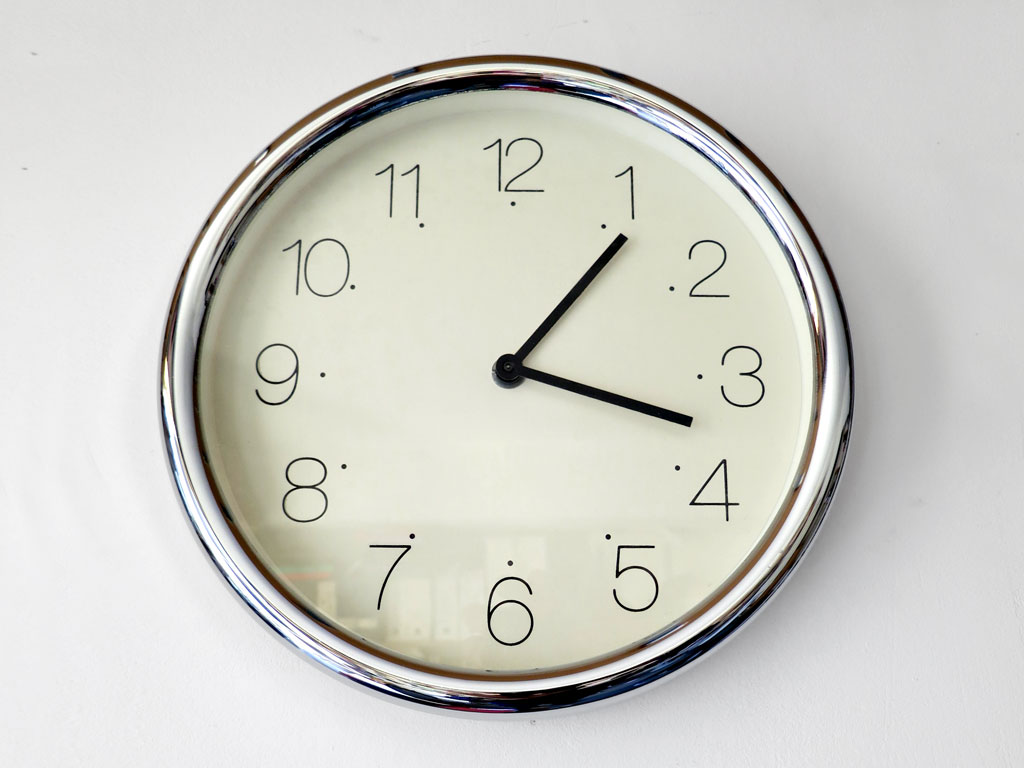 Claude Closky, 'Untitled (time)', 1995, clock, 3 cm, ø 26 cm.