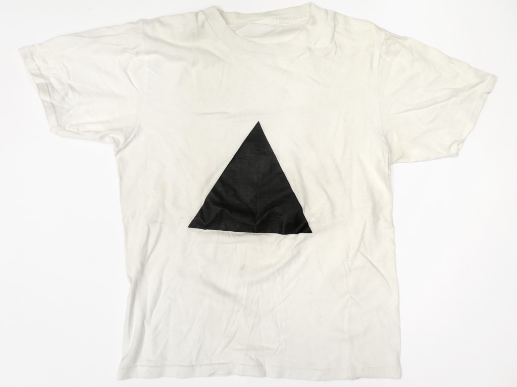 Claude Closky, 'Untitled (triangle),' 1986, t-shirt.