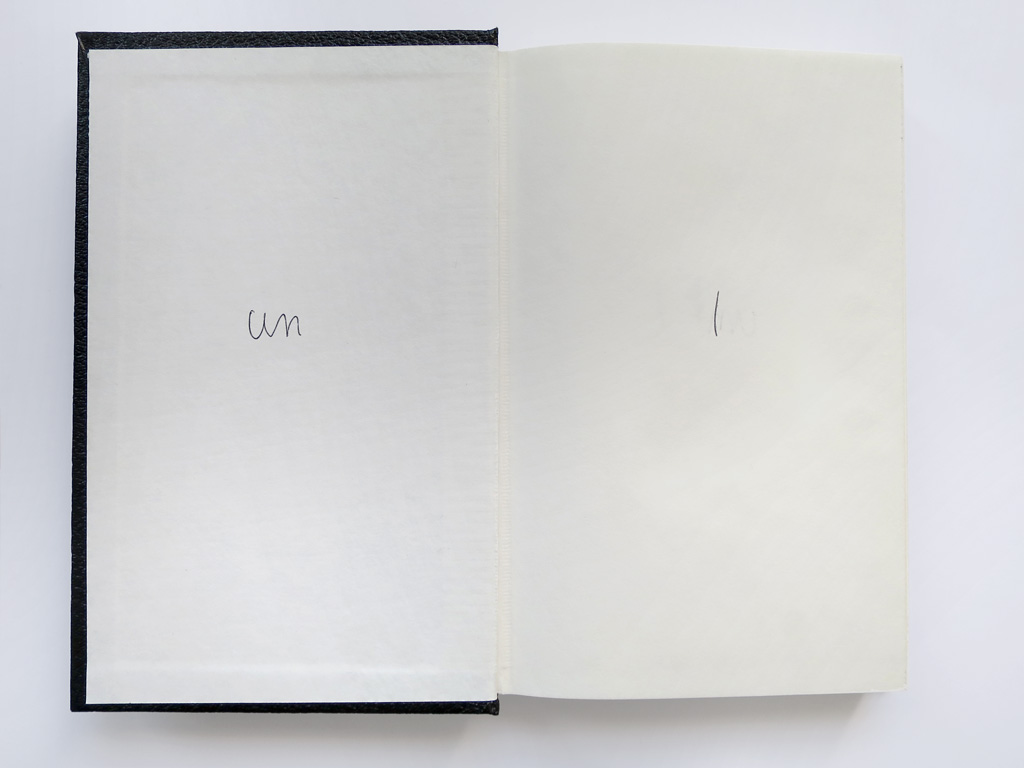 Claude Closky, 'Untitled (un l, un l l )', 1993, blue ballpoint pen on sketch pad, 200 pages, 21,5 x 14,5 cm.