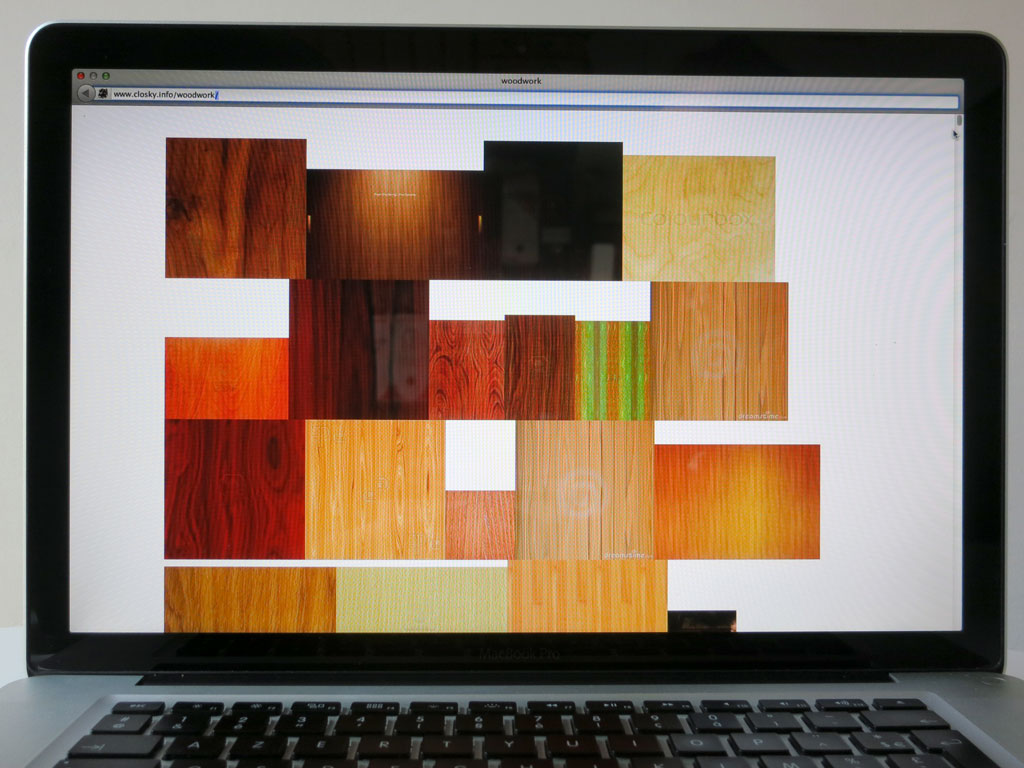 Claude Closky, 'Woodwork', 2012, web site, Html, jpg (http://www.closky.info/woodwork).