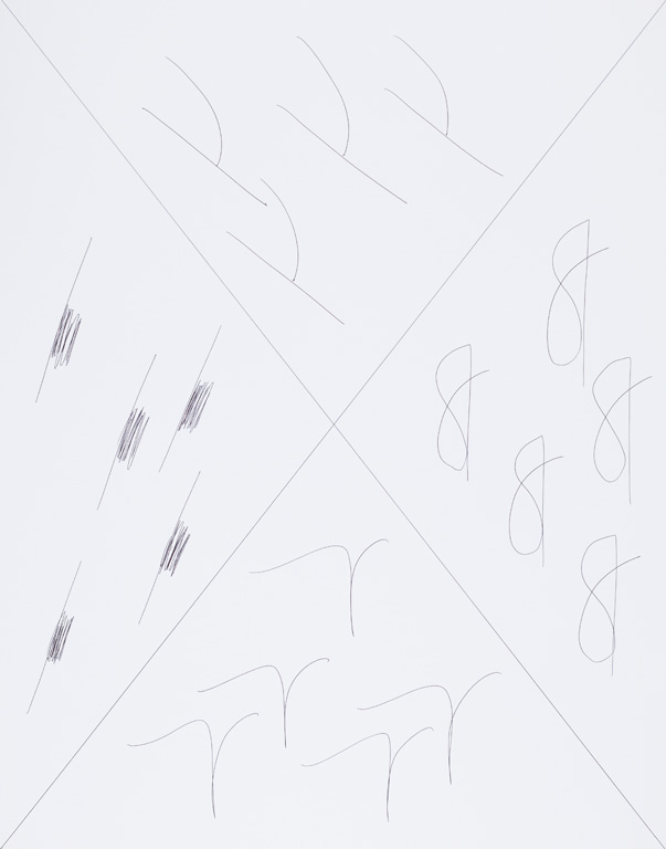 Claude Closky, 'X (c),' 2015, black ballpoint pen on paper, 65 x 51 cm.