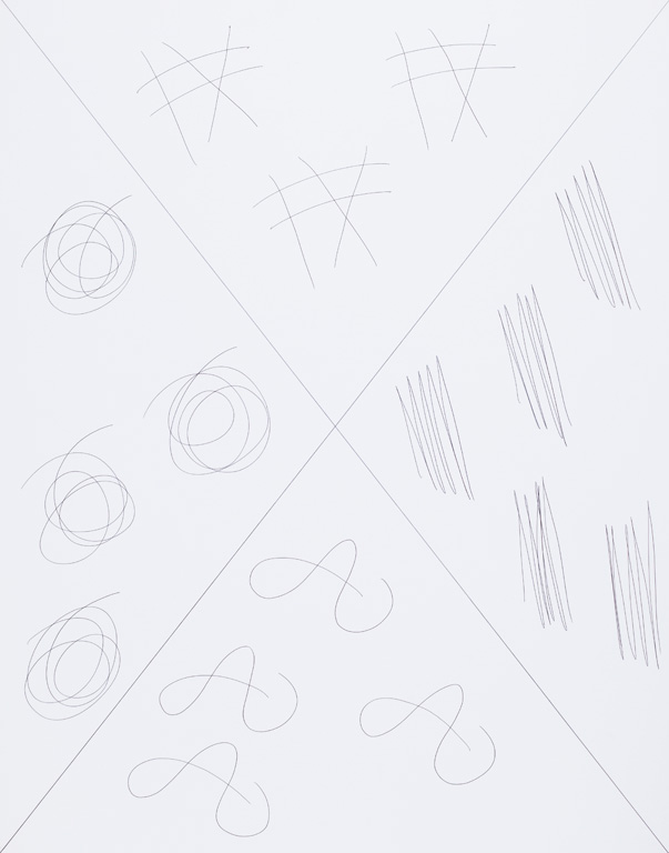 Claude Closky, 'X (d),' 2015, black ballpoint pen on paper, 65 x 51 cm.