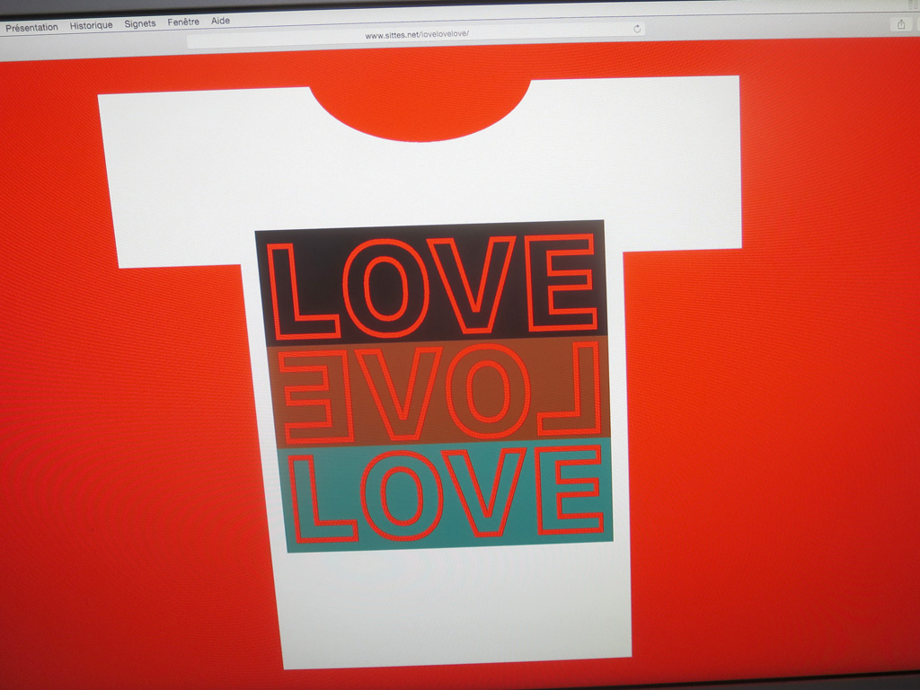 Claude Closky, 'lovelovelove,' 2018, web site (http://www.sittes.net/lovelovelove).