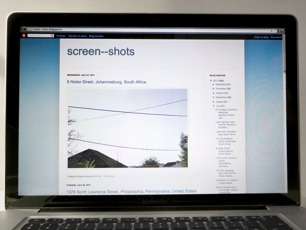Claude Closky, 'Screen--shots', 2011, internet blog (http://screen--shots.blogspot.com ), 365 posts.