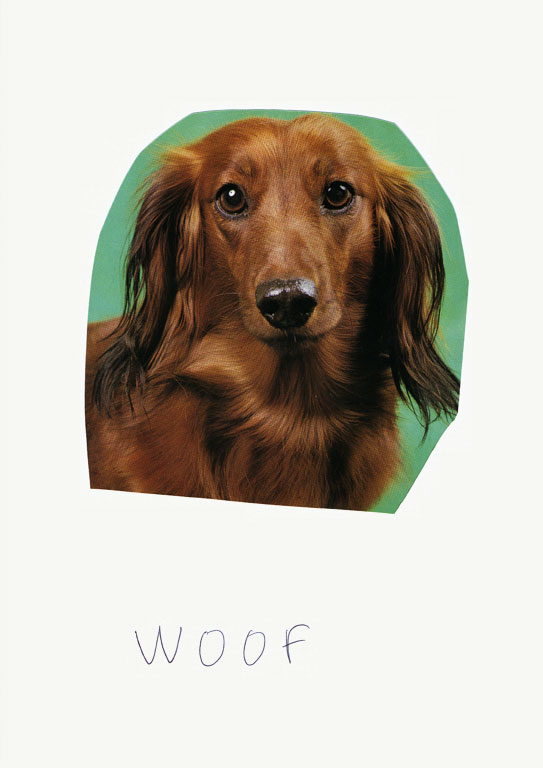 Claude Closky, 'Woof (Bailey)', 2012, collage and ball-point pen on paper, 30 x 21 cm.