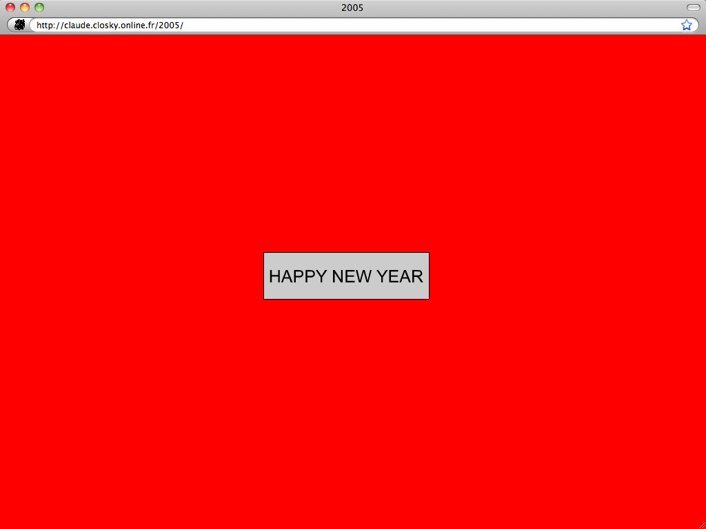 Claude Closky, 'Happy new year', 2004, interactive web site, Flash programming (http://claude.closky.online.fr/2005).