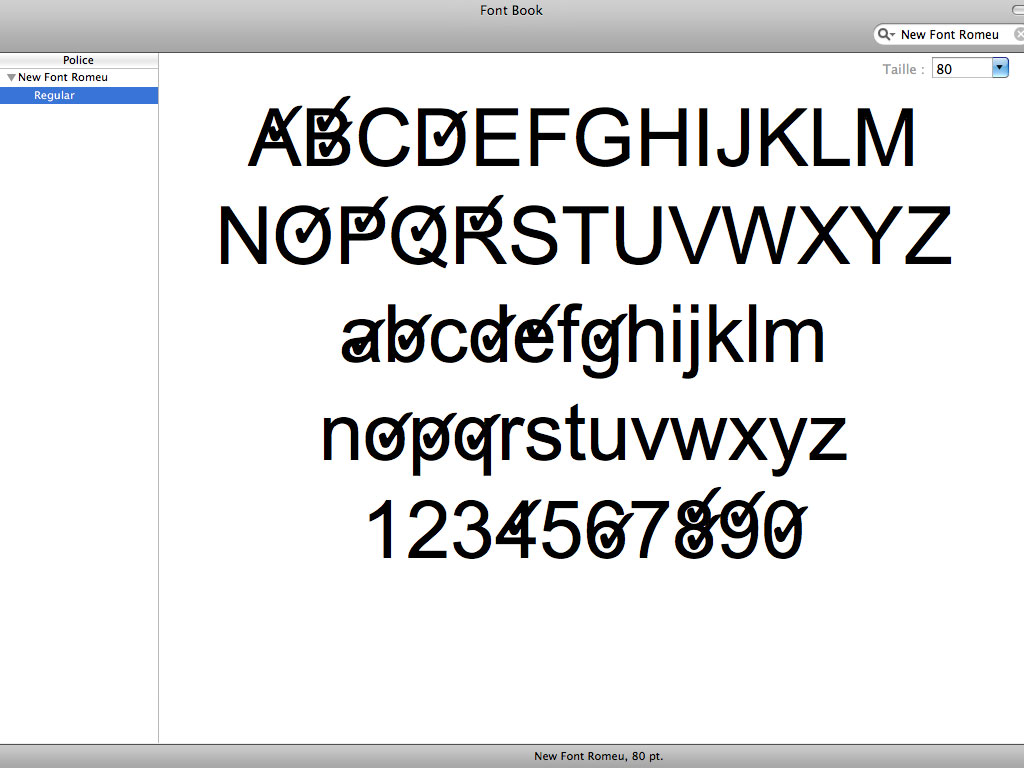 Claude Closky, 'New Font Romeu', 2000-2007, Font (Mac & PC), Regular.