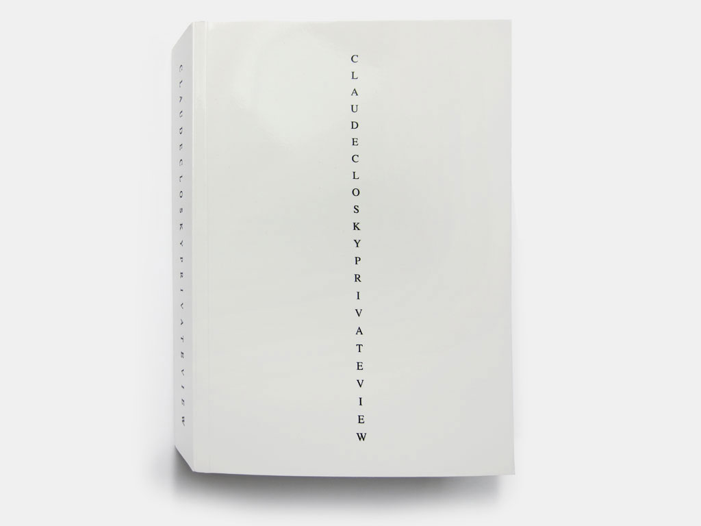 Claude Closky, 'Private view', 2006-2011, Paris: Editions 2-909043, 384 pages, 20,5 x 14,5 cm.