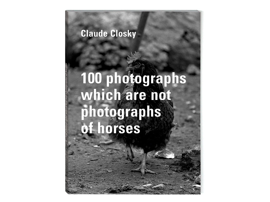 Claude Closky, '100 photographs which are not photographs of horses', 1995, Nevers: RN 7, 100 pages, 21 x 15 cm.