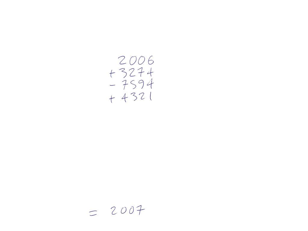 Claude Closky, '2007', 2006, ballpoint pen on paper, 29,7 x 21 cm.