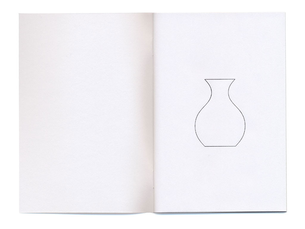 Claude Closky, '24 vases,' 1994, artist's publication. Photocopy, 48 pages, 14 x 10 cm.