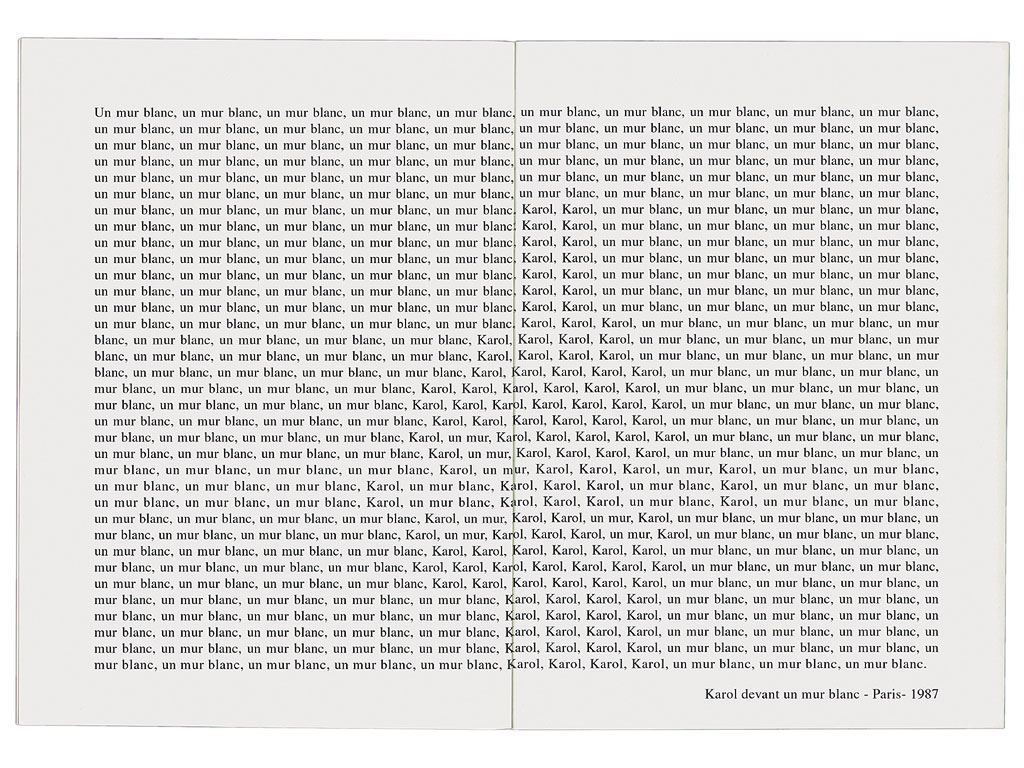 Claude Closky, '7 Portraits ', 1991, artist's publication. Photocopy, 16 pages, 21 x 15 cm.