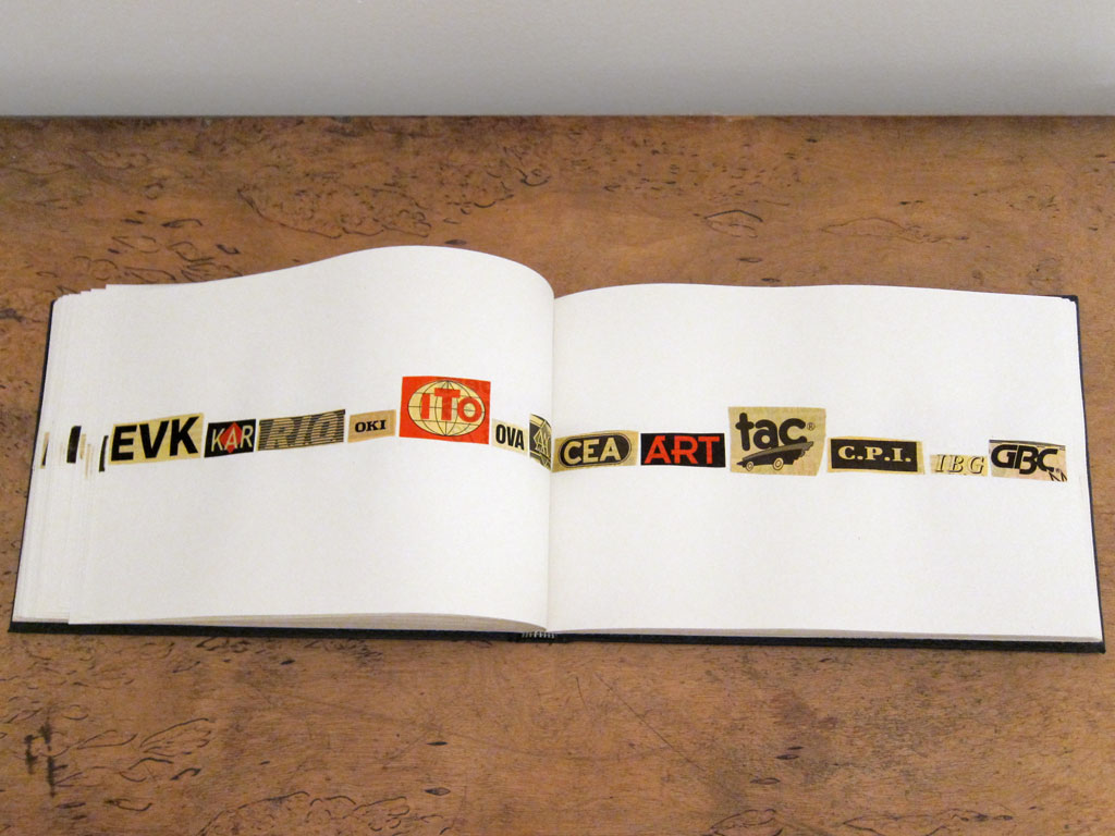 Claude Closky, 'ABC, CNP, PMA', 1994, ballpoint pen on sketch pad, 200 pages, 14 x 25 cm.