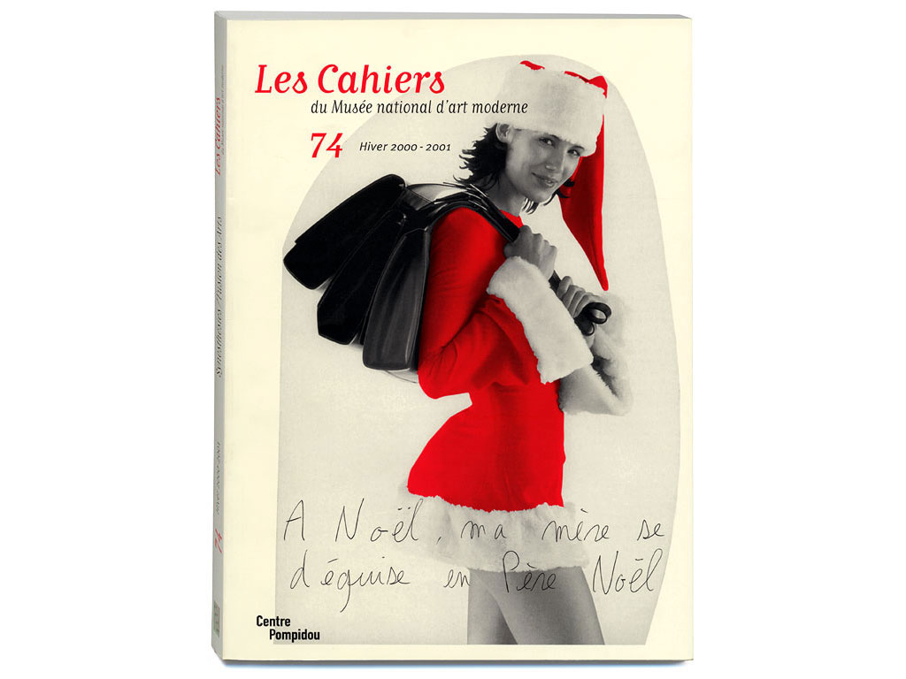 Claude Closky, 'A Noël, ma mère se déguise en Père Noël [At Christmas my mother dresses up as Santa Claus],' 2000, December. Paris: Les cahiers du Musée National d'Art Moderne, cover.