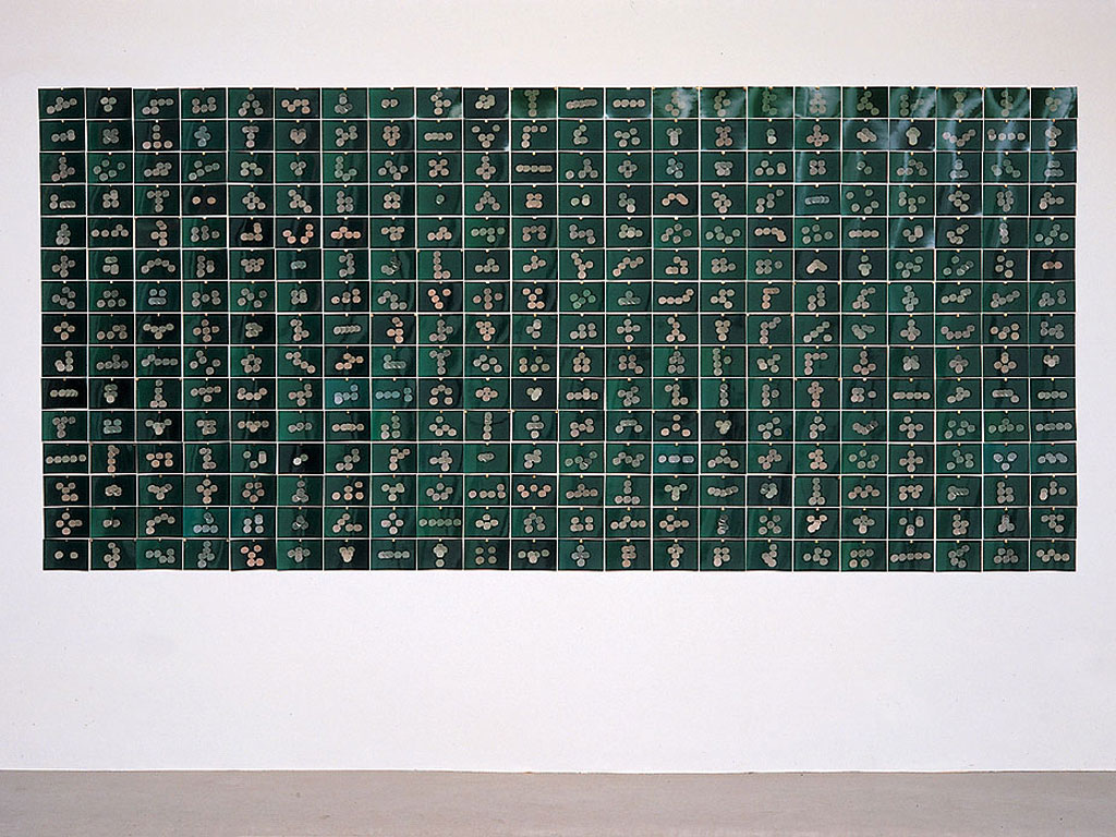 Claude Closky, 'All I Can Do With 5 Francs', 1993, c-print, 100 x 495 cm (330 prints 10 x 15 cm ) .