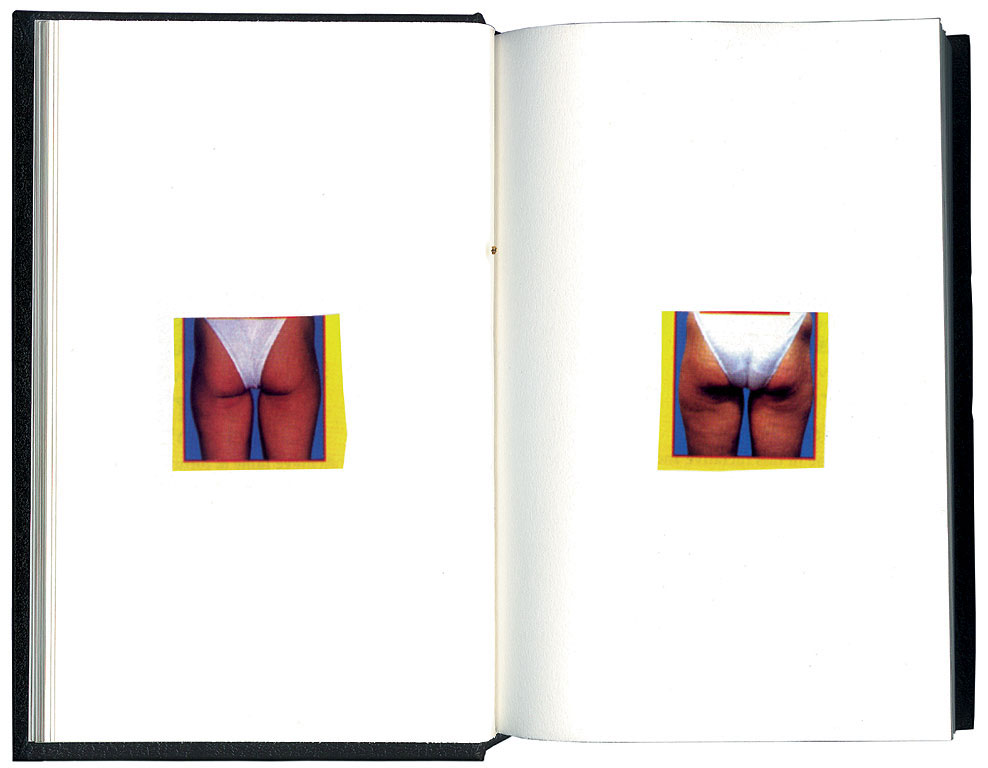 Claude Closky, 'Avant, après [Before, After]', 1997, collage, sketchbook, 200 pages, 21.5 x 14.5 cm.