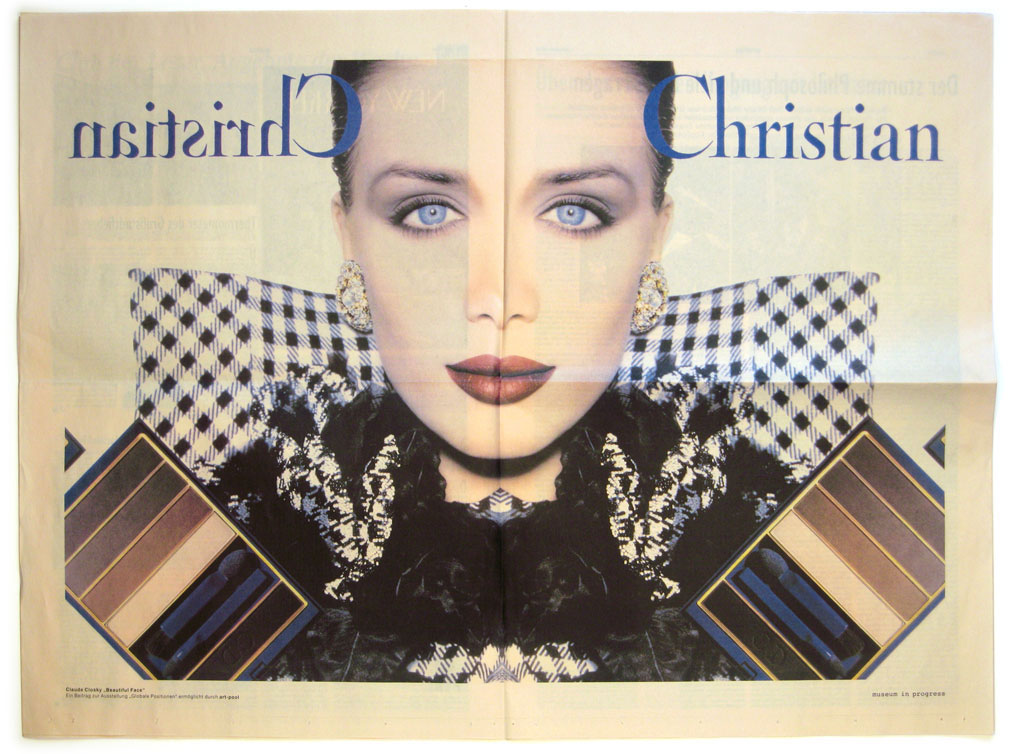 Claude Closky, 'Beautiful Face,' 2000, October 7th. Vienna: Der Standard, no. 252, commissioned by Museum in Progress, center fold, 47 x 63 cm.
