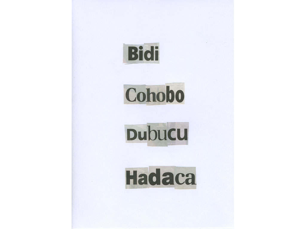 Claude Closky, 'Bidi', 2010, collage on paper, diptyque, twice 30 x 21 cm.