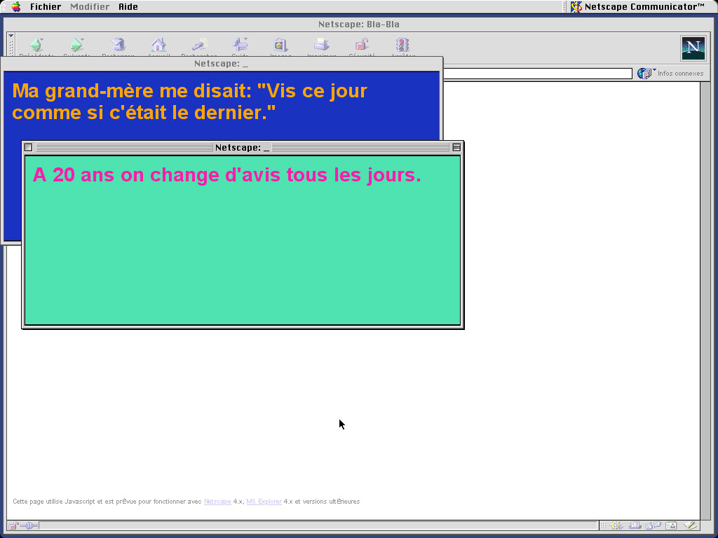 Claude Closky, 'Bla-bla (website)', 1998, Html, Javascript (http://www.sittes.net/blabla).