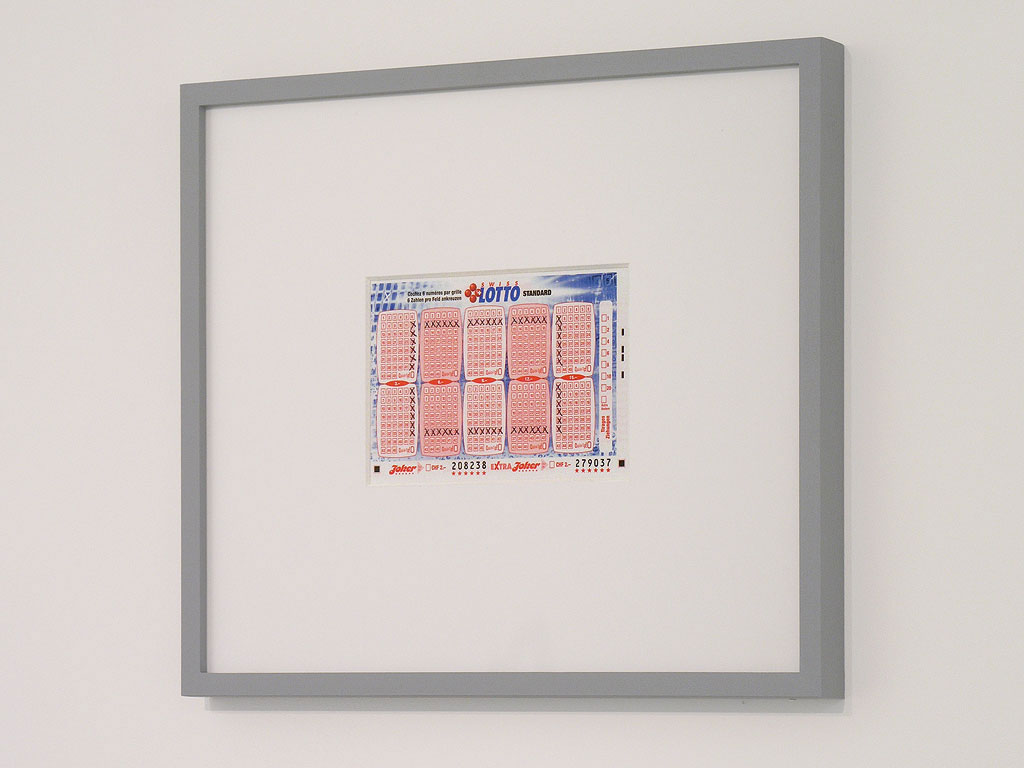 Claude Closky, Bulletin Swiss Lotto 208238, 2005