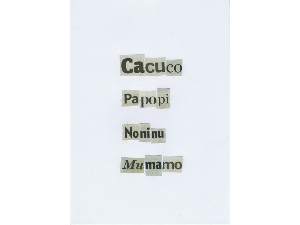 Claude Closky, 'Cacuco', 2010, collage on paper, diptyque, twice 30 x 21 cm.