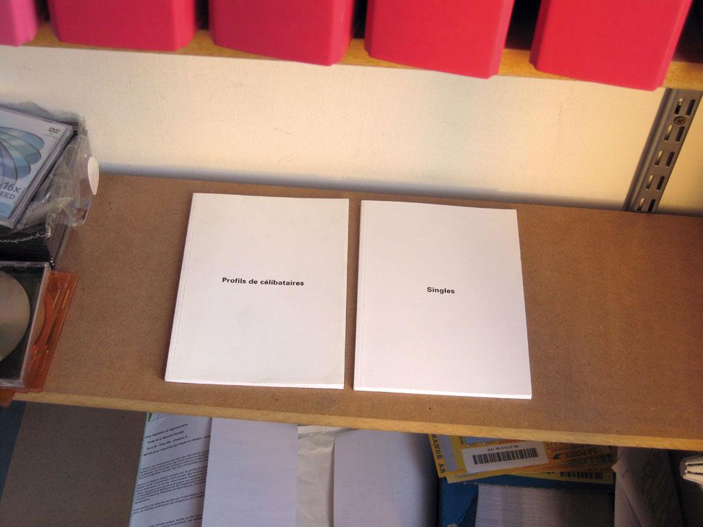 Claude Closky, 'Profils de célibataires [singles]', 1995, Montpellier: Frac Languedoc-Roussillon, 80 pages, 21 x 15 cm.