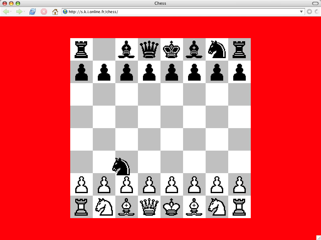 Claude Closky, 'Chess', 2005, animated Gif, Flash, stereo (http://s.k.i.online.fr/chess).