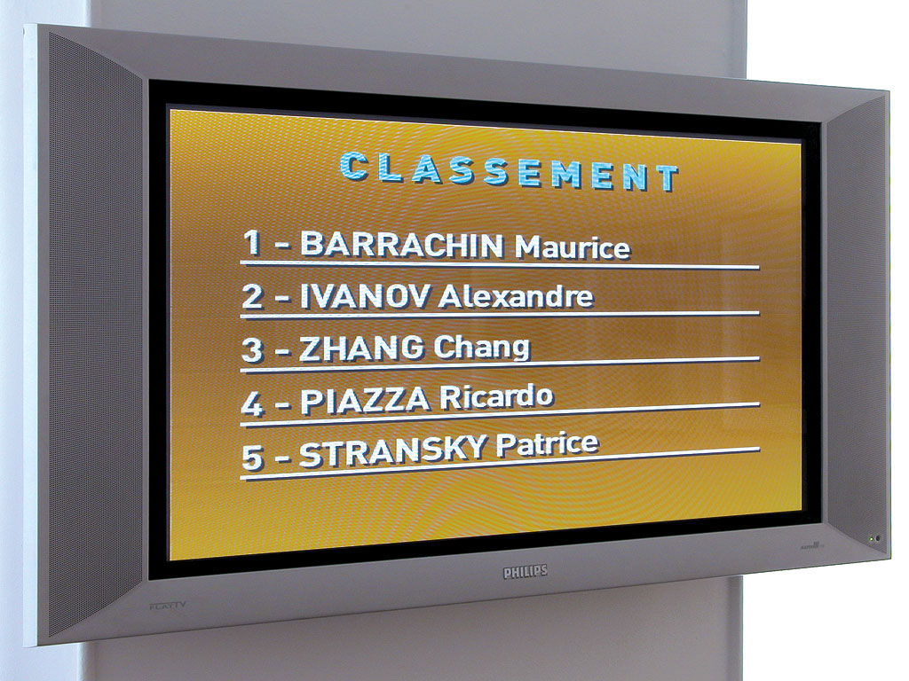 Claude Closky, 'Classement [Rating]', 2004, flat 16/9 monitor, computer, unlimited duration.