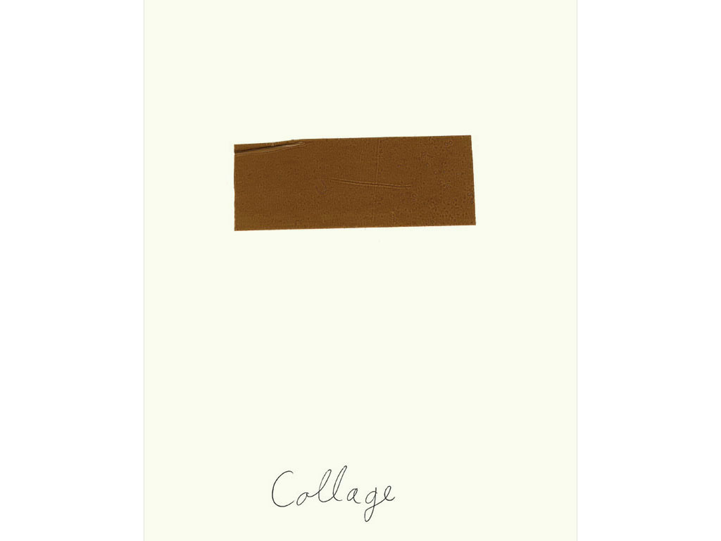 Claude Closky, 'Collage', 1990, brown tape and ballpoint pen on paper, 30 x 24 cm.