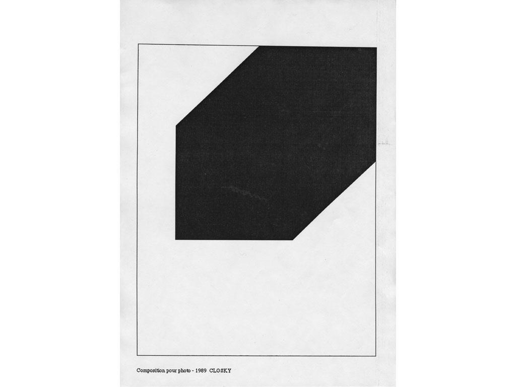 Claude Closky, 'Composition for photo (2)', 1989, laserprint on paper, 21 x 29,7 cm.