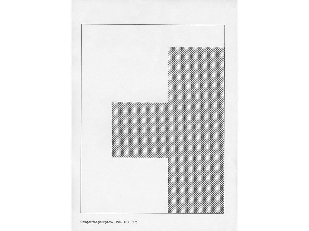 Claude Closky, 'Composition for photo (4)', 1989, laserprint on paper, 21 x 29,7 cm.
