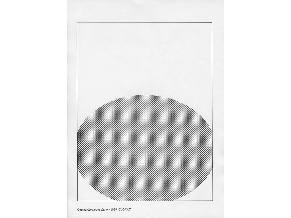 Claude Closky, 'Composition for photo (6)', 1989, laserprint on paper, 21 x 29,7 cm.
