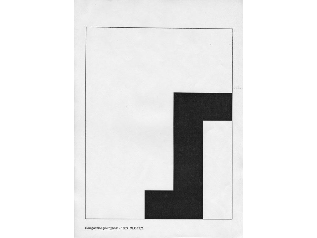 Claude Closky, 'Composition for photo (7)', 1989, laserprint on paper, 21 x 29,7 cm.
