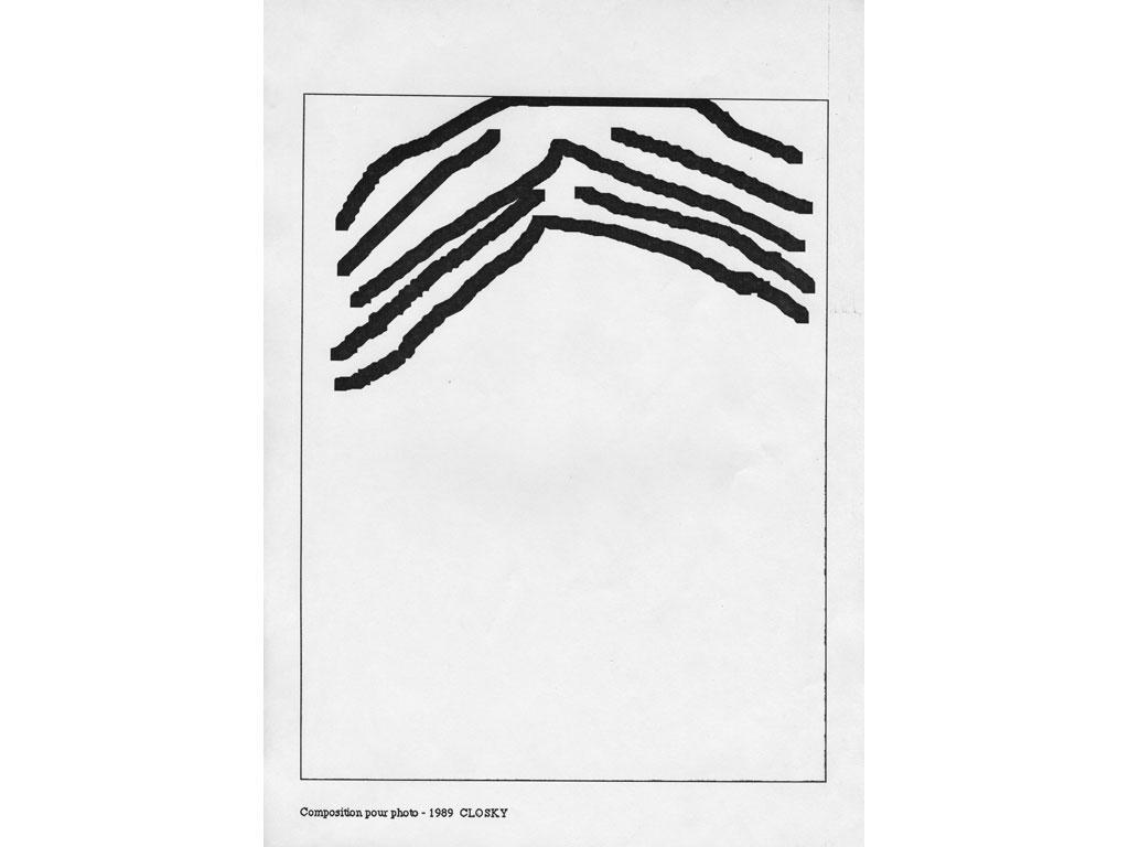Claude Closky, 'Composition for photo (8)', 1989, laserprint on paper, 21 x 29,7 cm.