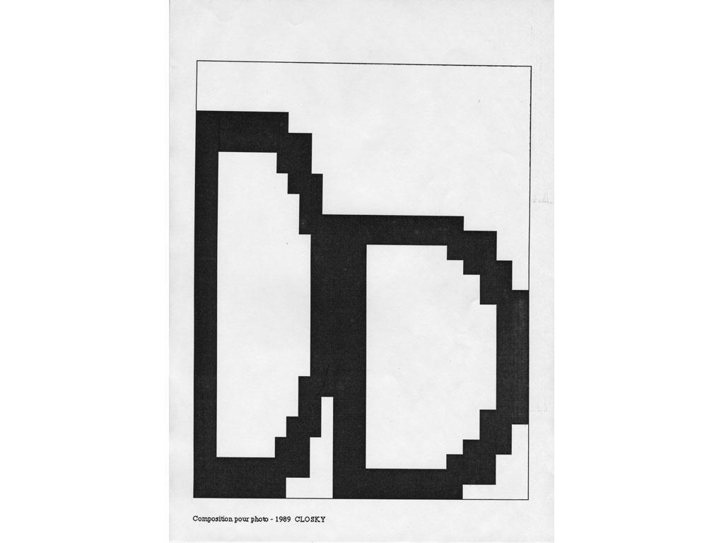 Claude Closky, 'Composition for photo (9)', 1989, laserprint on paper, 21 x 29,7 cm.
