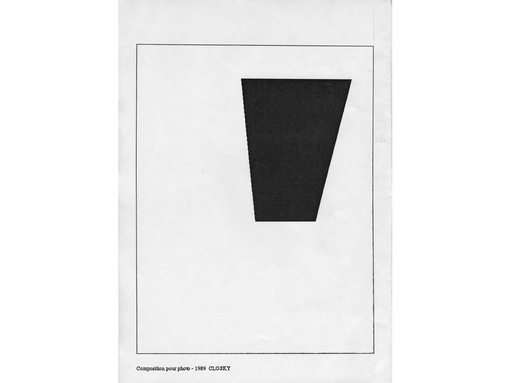 Claude Closky, 'Composition for photo (10)', 1989, laserprint on paper, 21 x 29,7 cm.