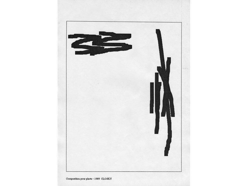 Claude Closky, 'Composition for photo (13)', 1989, laserprint on paper, 21 x 29,7 cm.
