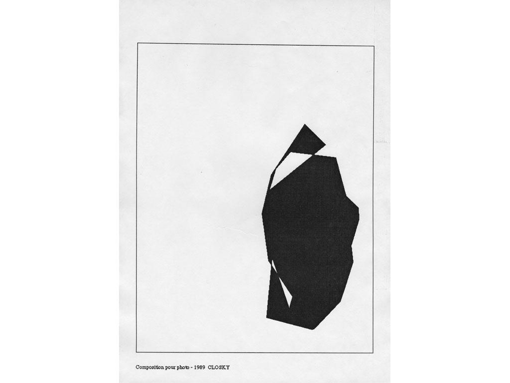 Claude Closky, 'Composition for photo (14)', 1989, laserprint on paper, 21 x 29,7 cm.