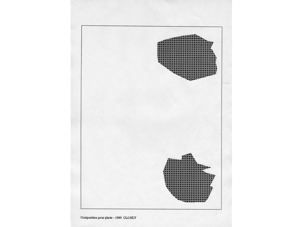 Claude Closky, 'Composition for photo (15)', 1989, laserprint on paper, 21 x 29,7 cm.