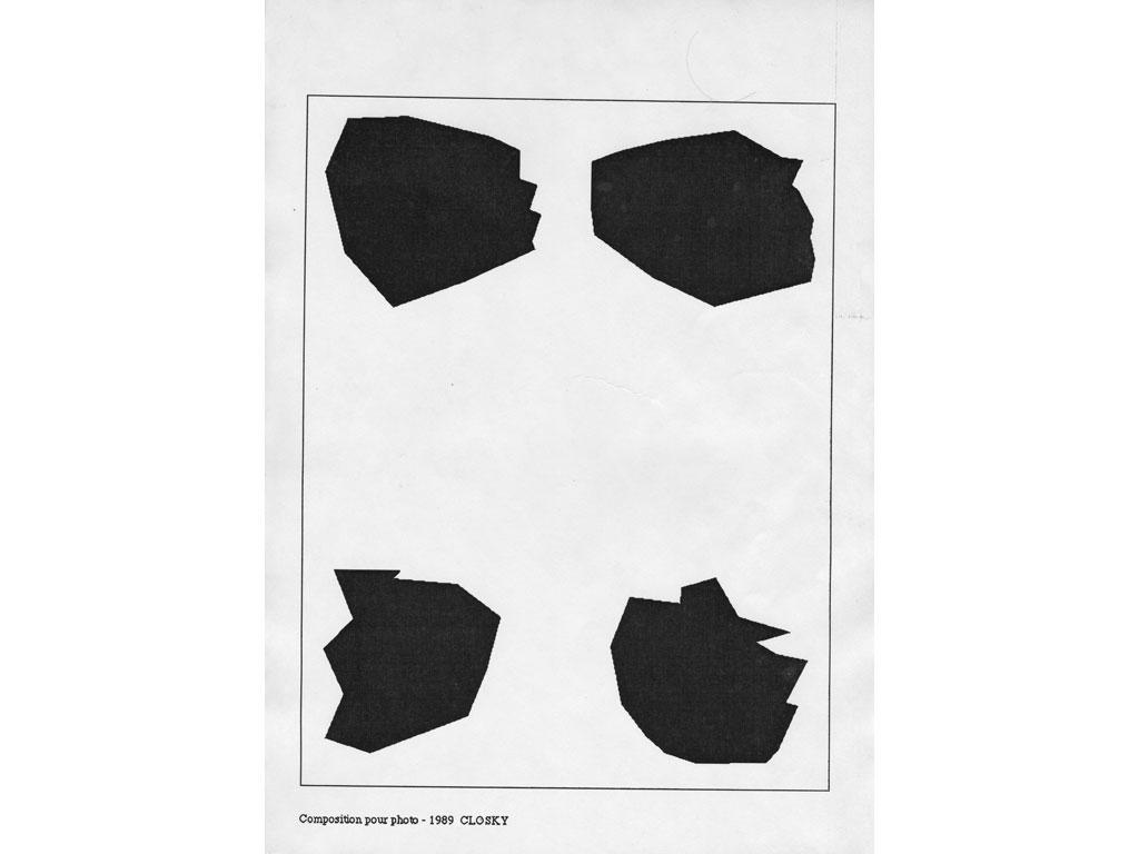 Claude Closky, 'Composition for photo (16)', 1989, laserprint on paper, 21 x 29,7 cm.