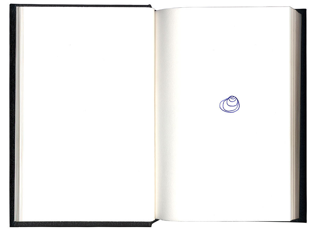 Claude Closky, 'Shell', 1994, ballpoint pen on sketch pad, 200 pages, 21,5 x 14,5 cm.