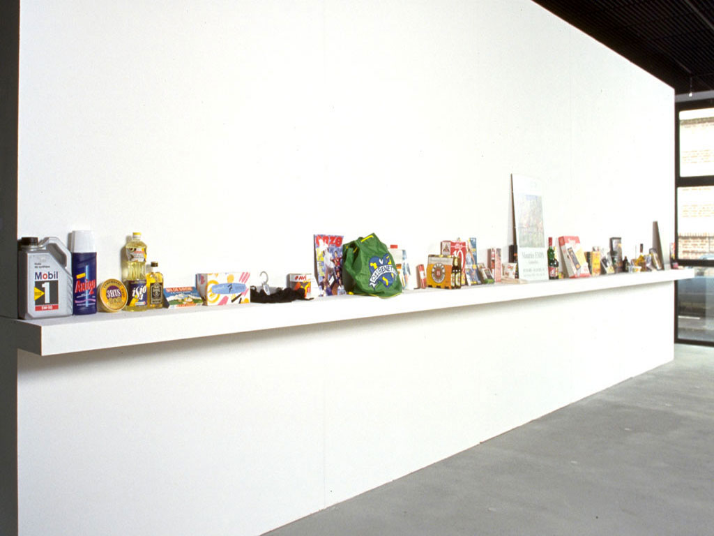 Claude Closky, 'From 1 to 100', 1993, mixed media, 70 x 1500 x 15 cm. Exhibition view 'Heather Allen, Claude Closky, Roland Moreau', Ecole Supérieur d'Art du Havre (ESAH), Le Havre. 12 May - 5 June 2000. Curated by Pierre Guislain