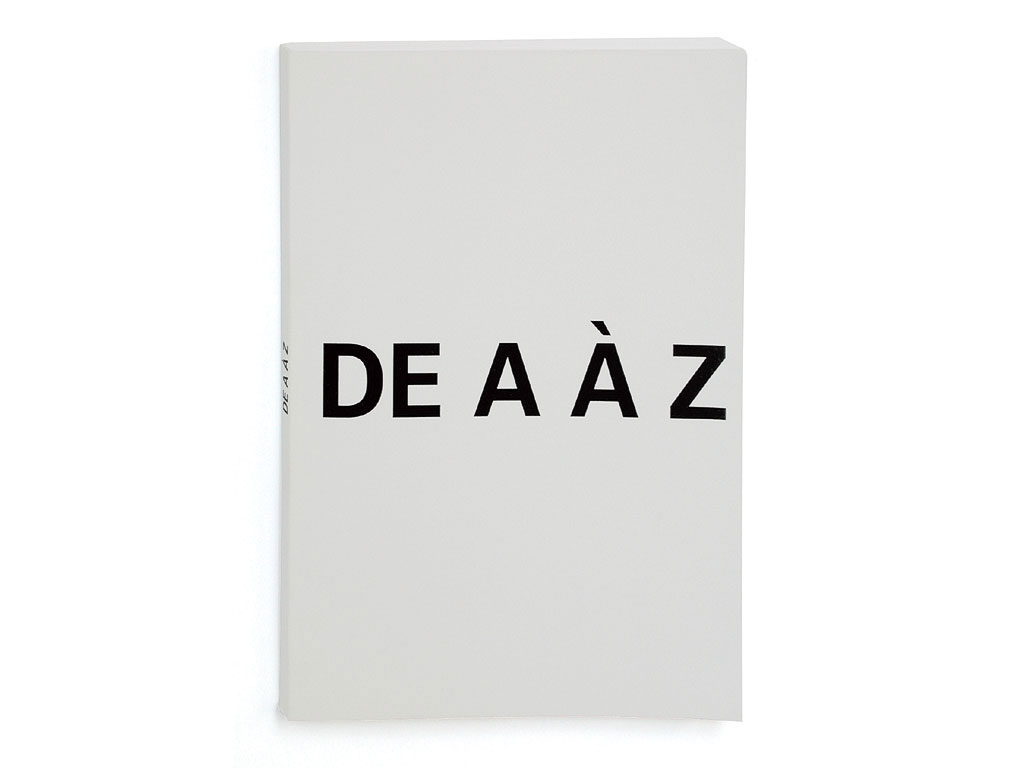 Claude Closky, 'De A à Z [from A to Z]', 1992, Paris: Galerie Jennifer Flay, 16 pages with flaps, 21 x 60 cm open, 21 x 15 closed.