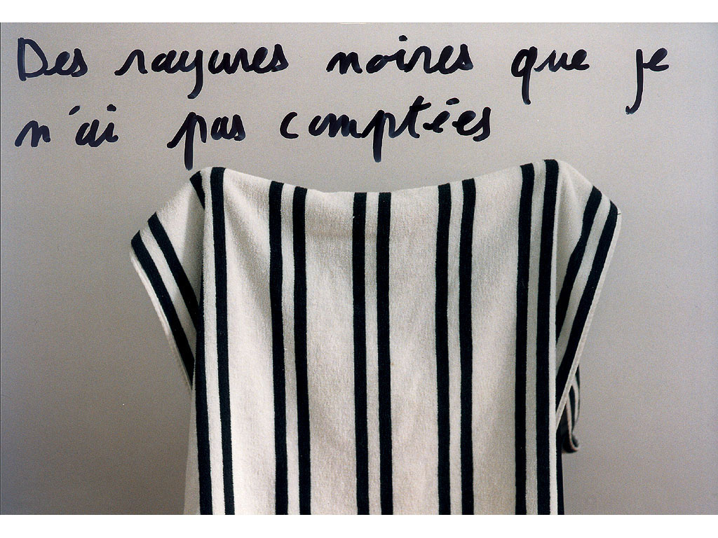 Claude Closky, 'Des rayures noires que je n'ai pas comptées [Black stripes I haven't counted]', 1995, c-print, permanent felt pen, 15,2 x 22,5 cm.