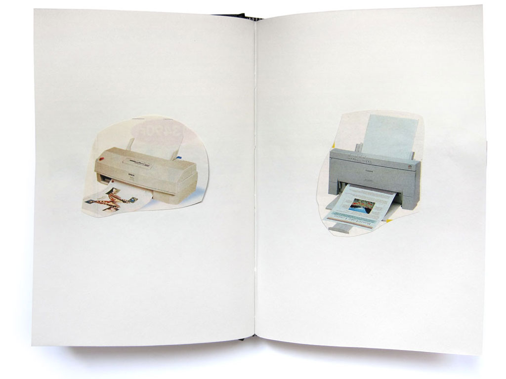 Claude Closky, 'Deux poissons [Two fishes],' 1996, collage on sketch book, 200 pages, 21,5 x 14,5 cm.