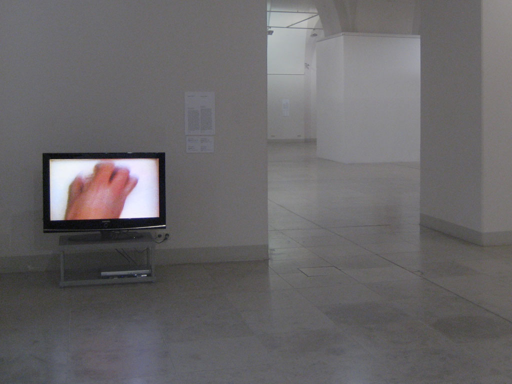 Claude Closky, 'Double six', 1994, monitor, dvd, dvd player, silent, unlimited duration. Exhibition views 'Fait en France', National Art Gallery, Sofia. 17 April - 13 May 2007. Curated by Philippe Piguet, Boris Danailov; 'Profils', Benaki Museum, Athens. 13 July - 20 September 2006. Curated by Philippe Piguet