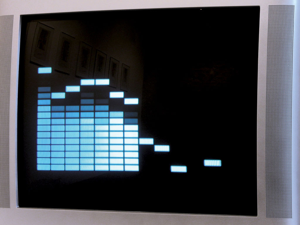 Claude Closky, 'Listening to a CD', 2002, monitor, dvd, dvd player, silent, 10 minutes. Editing: Jean-Noël Lafargue.