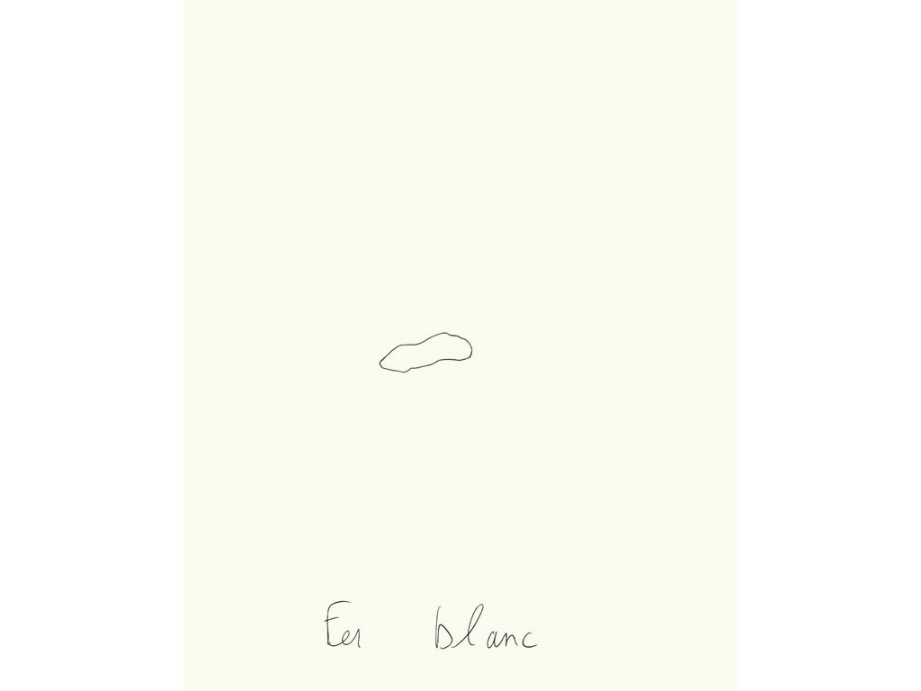 Claude Closky, 'Fer blanc [white iron]', 1996, ballpoint pen on paper, 30 x 24 cm.