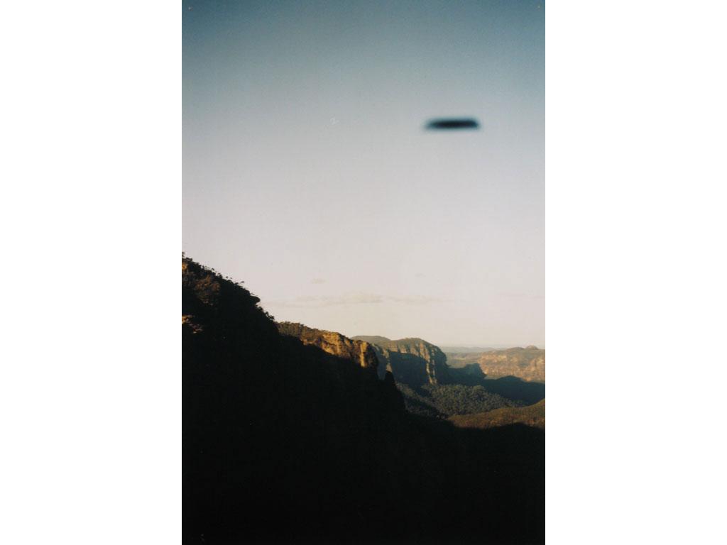 Claude Closky, 'Flying saucer, Montagnes Bleues (2)', 1996, c-print, 30 x 20 cm.