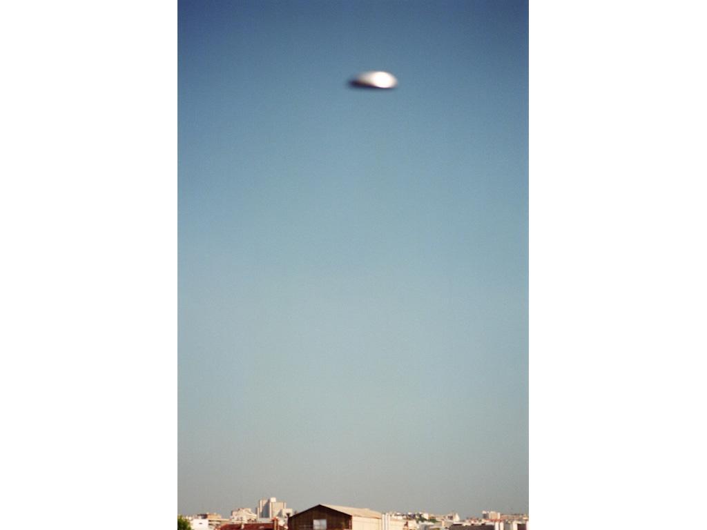 Claude Closky, 'Flying Saucer, Gare de l'Est (9)', 1996, c-print, 30 x 20 cm.